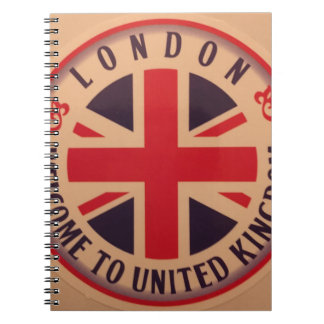 London - Union Jack - Welcome to United Kingdom Notebook