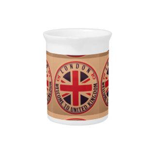 London - Union Jack - Welcome to United Kingdom Pitcher
