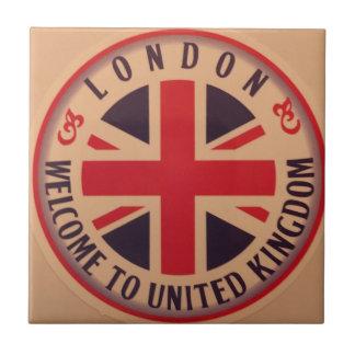 London - Union Jack - Welcome to United Kingdom Tile