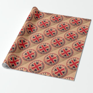 London - Union Jack - Welcome to United Kingdom Wrapping Paper