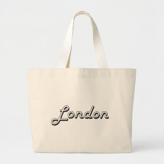 London United Kingdom Classic Retro Design Large Tote Bag