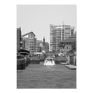 London. View in district Limehouse Photo Print