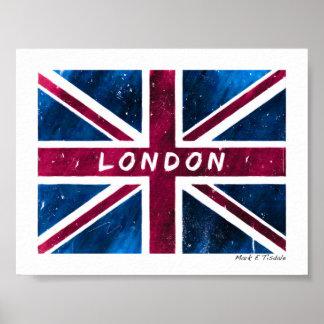 London - Vintage British Union Jack Flag - Mini Print