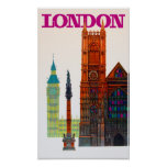 London Vintage travel poster