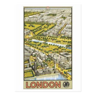 London Vintage Travel Poster Postcard