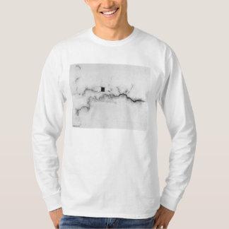 London Water Ways Map Drawing T-Shirt