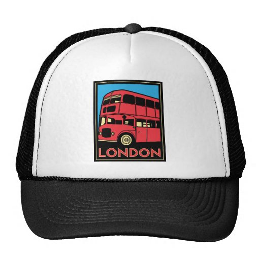london westminster england art deco retro poster mesh hat