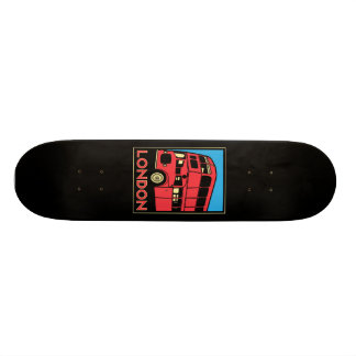 london westminster england art deco retro poster skateboard deck