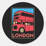 london westminster england art deco retro poster classic round sticker