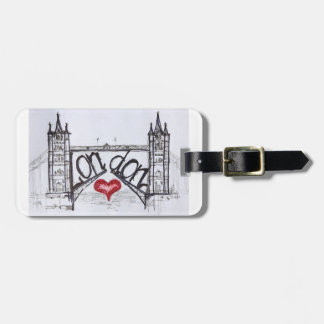 London with Love Luggage Tag