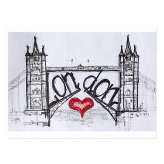London with love postcard