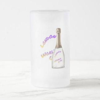 London world city, Bottle Frosted Glass Beer Mug