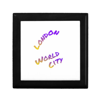 London world city, colorful text art gift box