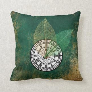 Londoner Big Ban Clock Black Tropical Gold Leaf Cushion