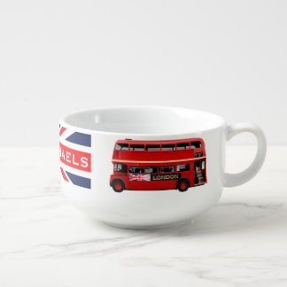 London's Famous Red Bus Soup Mug