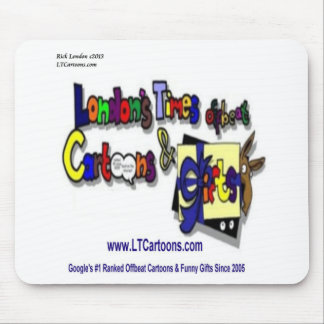 Londons Times Cartoons Logo Mouse Pad