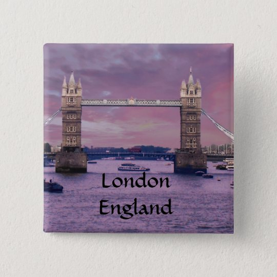 London's Tower Bridge 15 Cm Square Badge
