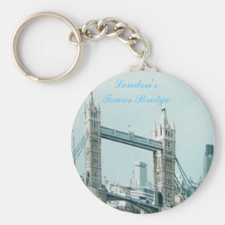 London'sTower Bridge Basic Round Button Key Ring