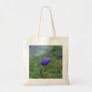 Lone Blue-Purple Anemone Tote Bag