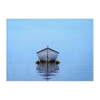 Lone Boat Acrylic Wall Art