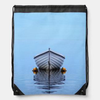 Lone Boat Drawstring Bag