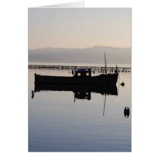 Lone Boat on the Loch Greeting Card