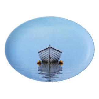Lone Boat Porcelain Serving Platter