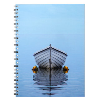 Lone Boat Spiral Notebook