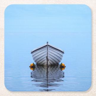 Lone Boat Square Paper Coaster