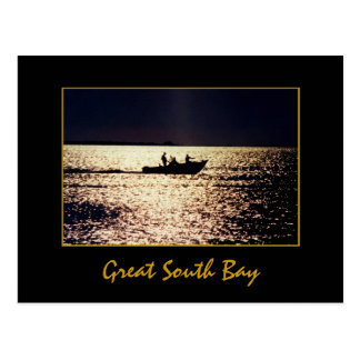 'Lone Boaters at Twilight'  Postcard