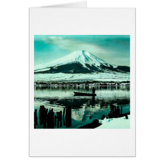 Lone Boatman Beneath the Winter Shadow of Mt. Fuji Card