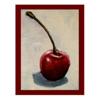 LONE CHERRY PAINTING POSTCARD