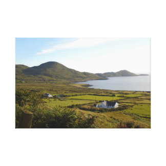 lone cottage by the sea south west of ireland canvas print