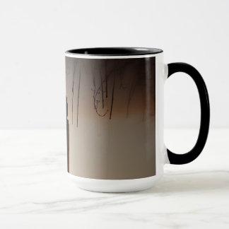Lone Crow At Sunset Mug