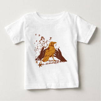 Lone Crow Illustration Baby T-Shirt