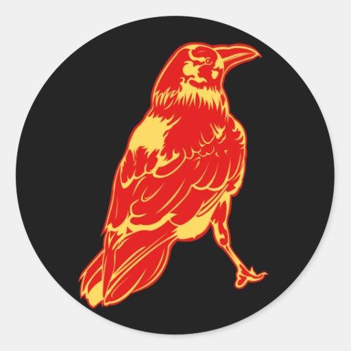 Lone Crow Illustration Sticker