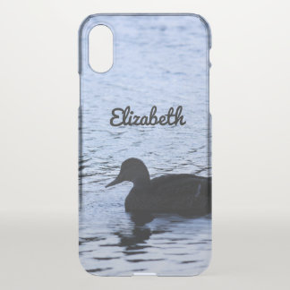 Lone Duck Wildlife Lake Water Ripples Photography iPhone X Case