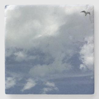 Lone Gull Stone Coaster