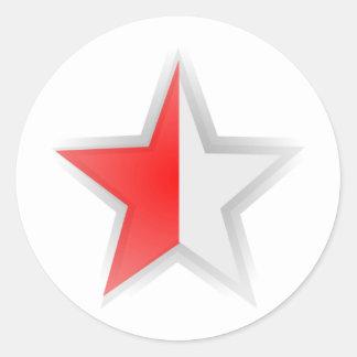 Lone Half Star Sticker