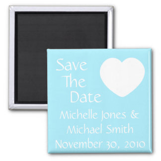 Lone Heart Save The Date Magnet (Light Blue)