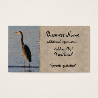Lone Heron Business Card