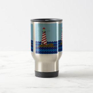 Lone Lighthouse Art Mugs