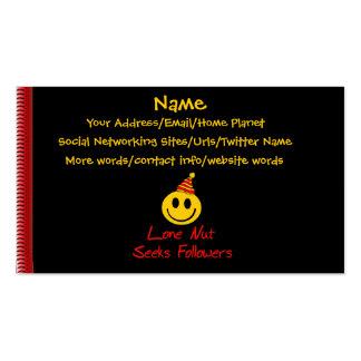 Lone Nut Seeks Followers Pack Of Standard Business Cards