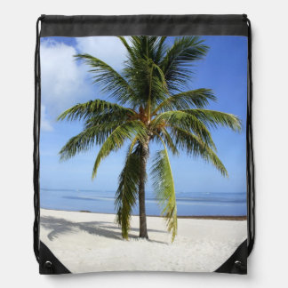 Lone Palm Drawstring Bag