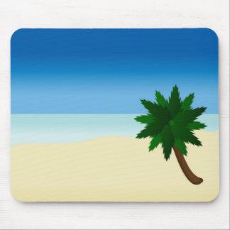 lone palm tree mousepad