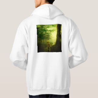Lone Pilgrim in the Forest Road Mist Vintage Japan Hoodie