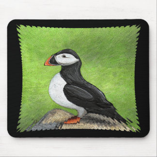 LONE PUFFIN - classic version mousepad