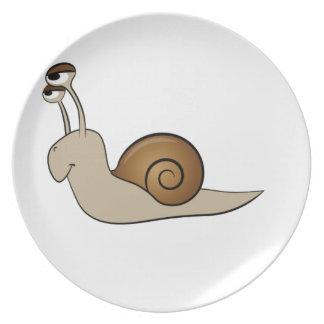 lone snail yeah plate