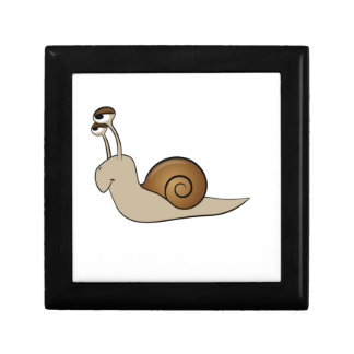 lone snail yeah small square gift box