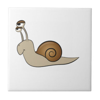 lone snail yeah small square tile